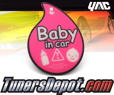 YAC® JDM Baby on Board Badge - Baby in Car (Girl) Magatama Hanger
