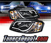 Sonar® Light Bar DRL Projector Headlights (Black) - 06-08 Audi A3
