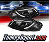 Sonar® Light Bar DRL Projector Headlights (Black) - 06-08 Audi A4 (Exc. Convertible)