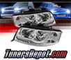 Sonar® Light Bar DRL Projector Headlights (Chrome) - 02-04 Audi A6