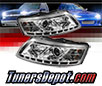 Sonar® DRL LED Projector Headlights (Chrome) - 05-07 Audi A6
