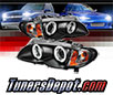 Sonar® CCFL Halo Projector Headlights (Black) - 02-05 BMW 330xi 4dr E46