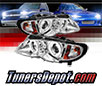 Sonar® CCFL Halo Projector Headlights (Chrome) - 02-05 BMW 330i 4dr E46