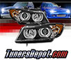 Sonar® Light Bar DRL Projector Headlights (Black) - 07-08 BMW 335xi 4dr E90 (w/ AFS HID Only)