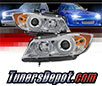 Sonar® Light Bar DRL Projector Headlights (Chrome) - 07-08 BMW 335xi 4dr E90 (w/ AFS HID Only)