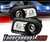 Sonar® Light Bar DRL Projector Headlights (Black) - 05-10 Chrysler 300C