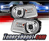 Sonar® Light Bar DRL Projector Headlights (Chrome) - 05-10 Chrysler 300C