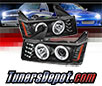 Sonar® LED CCFL Halo Projector Headlights (Black) - 04-12 GMC Canyon