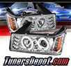 Sonar® LED CCFL Halo Projector Headlights (Chrome) - 04-12 GMC Canyon