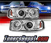 Sonar® LED CCFL Halo Projector Headlights (Chrome) - 00-06 GMC Yukon XL/SLT