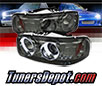 Sonar® LED CCFL Halo Projector Headlights (Smoke) - 2007 GMC Sierra Classic