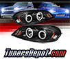 Sonar® LED CCFL Halo Projector Headlights (Black) - 06-13 Chevy Impala