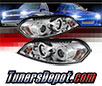 Sonar® LED CCFL Halo Projector Headlights (Chrome) - 06-13 Chevy Impala