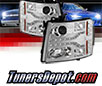 Sonar® DRL LED Projector Headlights (Chrome) - 07-13 Chevy Silverado 1500
