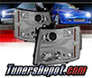 Sonar® Light Bar DRL Projector Headlights (Smoke) - 07-14 Chevy Silverado 2500⁄3500