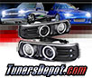Sonar® CCFL Halo Projector Headlights (Black) - 99-02 Chevy Silverado