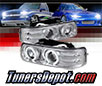 Sonar® CCFL Halo Projector Headlights (Chrome) - 99-02 Chevy Silverado