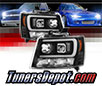 Sonar® Light Bar DRL Projector Headlights (Black) - 07-14 Chevy Tahoe (Version 2)