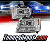Sonar® Light Bar DRL Projector Headlights (Chrome) - 07-14 Chevy Tahoe (Version 2)