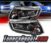 Sonar® Light Bar DRL Projector Headlights (Black) - 11-14 Dodge Charger