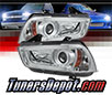 Sonar® Light Bar DRL Projector Headlights (Chrome) - 11-14 Dodge Charger