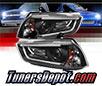 Sonar® Light Bar DRL Projector Headlights (Black) - 11-14 Dodge Charger (w/ HID Only)