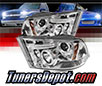 Sonar® CCFL Halo Projector Headlights (Chrome) - 09-16 Dodge Ram Pickup 1500