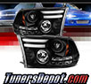 Sonar® Light Bar DRL Projector Headlights (Black) - 09-16 Dodge Ram Pickup 1500