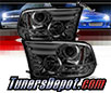 Sonar® Light Bar DRL Projector Headlights (Smoke) - 10-16 Dodge Ram Pickup 2500/3500