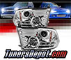 Sonar® Light Bar DRL Projector Headlights (Chrome) - 13-16 Dodge Ram Pickup (Exc. Factory Dual/Quad Lamp)
