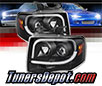 Sonar® Light Bar DRL Projector Headlights (Black) - 07-13 Ford Expedition
