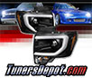 Sonar® Light Bar DRL Projector Headlights (Black) - 09-14 Ford F150 F-150