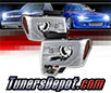 Sonar® Light Bar DRL Projector Headlights (Chrome) - 13-14 Ford F150 F-150 (w⁄ HID Only)