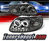 Sonar® CCFL Halo Projector Headlights (Smoke) - 97-02 Ford Expedition