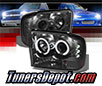 Sonar® LED CCFL Halo Projector Headlights (Smoke) - 00-04 Ford Excursion