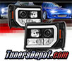 Sonar® Light Bar DRL Projector Headlights (Black) - 07-13 GMC Sierra (Incl. Denali & Hybrid)