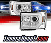 Sonar® Light Bar DRL Projector Headlights (Chrome) - 07-13 GMC Sierra (Incl. Denali & Hybrid)