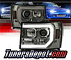 Sonar® Light Bar DRL Projector Headlights (Smoke) - 07-13 GMC Sierra (Incl. Denali & Hybrid)