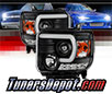 Sonar® Light Bar DRL Projector Headlights (Black) - 14-15 GMC Sierra (Exc. Factory LED DRL)