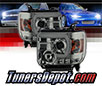 Sonar® Light Bar DRL Projector Headlights (Smoke) - 14-15 GMC Sierra (w/ Factory LED DRL)