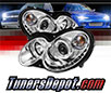 Sonar® LED Halo Projector Headlights (Chrome) - 03-06 Mercedes Benz CLK500 W209