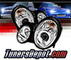 Sonar® CCFL Halo Projector Headlights (Chrome) - 99-03 Mercedes Benz CLK430 W208