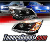 Sonar® DRL LED Projector Headlights (Black) - 08-11 Mercedes Benz C63 AMG 4dr W203