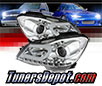 Sonar® Light Bar DRL Projector Headlights (Chrome) - 12-15 Mercedes Benz C180 2/4dr W204