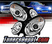 Sonar® Projector Headlights (Chrome) - 03-06 Mercedes Benz E350 4dr/Wagon W211