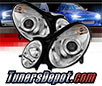 Sonar® Projector Headlights (Chrome) - 07-09 Mercedes Benz E550 4dr W211