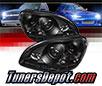 Sonar® DRL LED Projector Headlights (Black) - 00-06 Mercedes Benz S500 W220 (w⁄ HID Only)