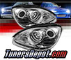 Sonar® DRL LED Projector Headlights (Chrome) - 00-06 Mercedes Benz S500 W220 (w⁄ HID Only)