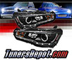 Sonar® DRL LED Projector Headlights (Black) - 08-17 Mitsubishi Lancer (Incl. Evolution) (w/ HID Only)