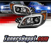 Sonar® Light Bar DRL Projector Headlights (Black) - 06-07 Subaru Impreza (Incl. WRX)